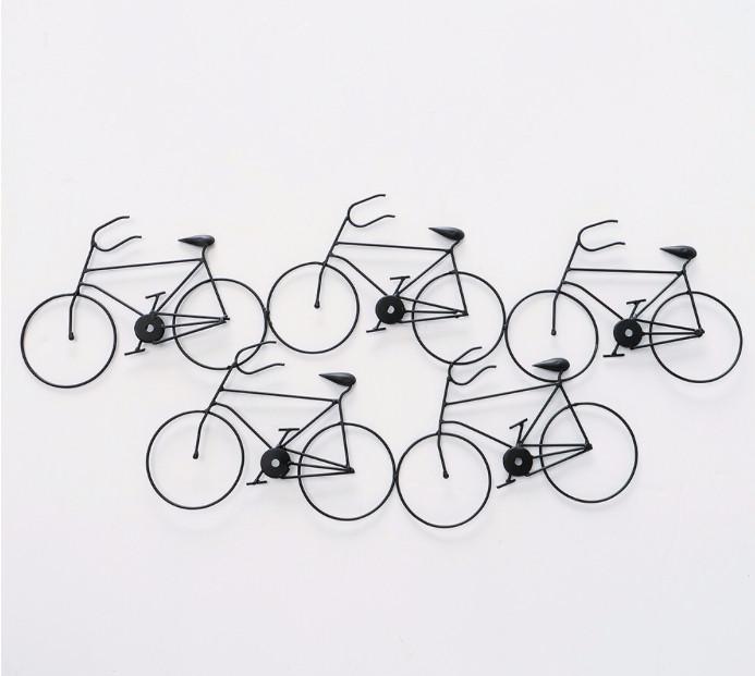 Настенная фигура Велосипеды W 76 см, L 2 см металл