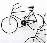 Настенная фигура Велосипеды W 76 см, L 2 см металл, фото 2