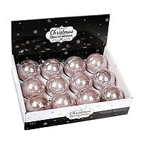 Набір пластикових новорічних куль 12шт/упаковка D-8 див. 11477, Ціна за упаковку