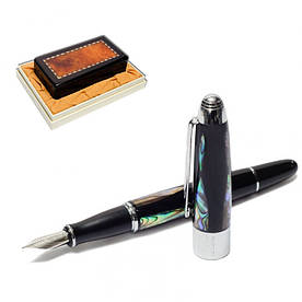 Ручка пір'яна подарункова у футлярі 14 см Перлина DUKE M-BHMZ-14KB Перламутрова