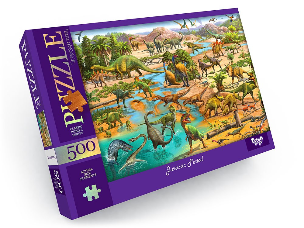 Пазлы на 500 эл. Динозавры Danko Toys С500-13-08