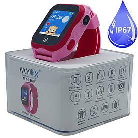 Дитячі водонепроникні GPS годинник MYOX МХ-32GW з камерою Рожеві