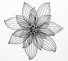 Настенный декор цветок Lizzy W 5 см, L 75 см, H 75 см металл