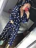 Женский короткий халат синего цвета с капюшоном хит продаж, фото 6