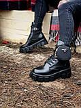 Женские ботинки PRАDА  Monolith зима (копия), фото 4