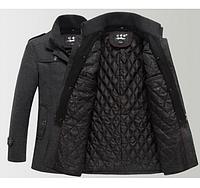 Мужское зимнее пальто с подстежкой  МК 0134-И, фото 1