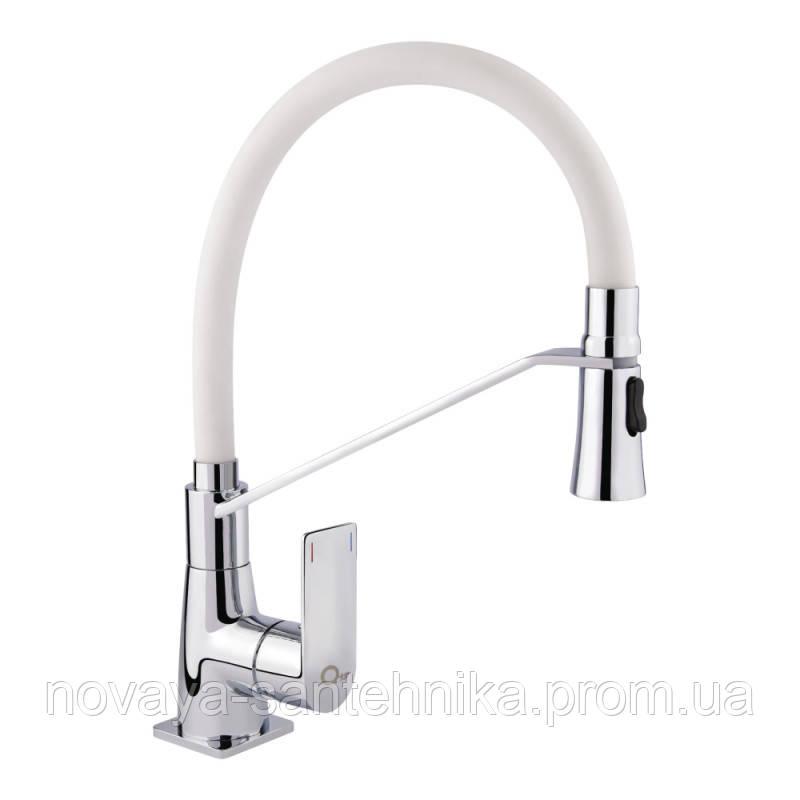 Смеситель для кухни с рефлекторным изливом Q-tap Estet CRW 007F