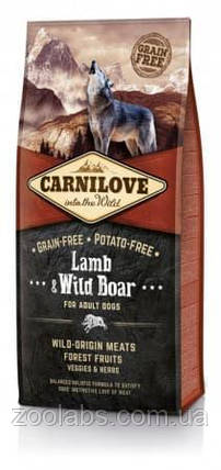 Корм Carnilove для собак с ягненком и диким кабаном   Carnilove Adult Lamb & Wild Boar 12 кг, фото 2