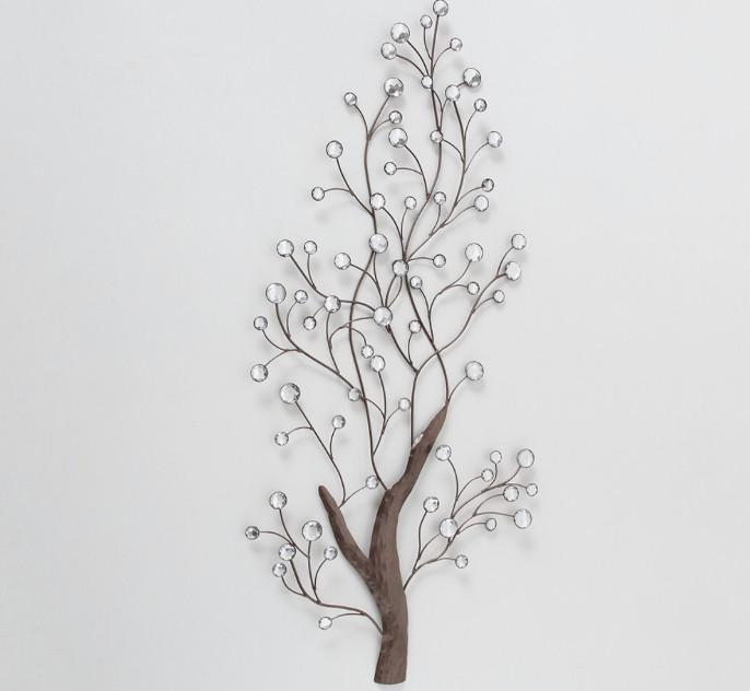 Настенный декор Pedo W 52 см, L 109 см, H 4 см металл