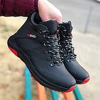 Ботинки детские подростковые зимние на мальчика из натуральной кожи от производителя (код:СМ-Ecco 2020)