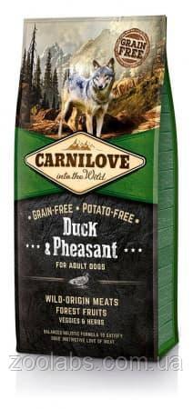 Корм Carnilove для собак с уткой и фазаном | Carnilove Adult Duck & Pheasant 1,5 кг