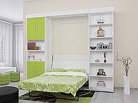 Шкаф-кровать с пеналом и стеллажом с полками, фото 1