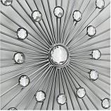 Настенный декор Звезда в Космосе d48см серебряный металл, фото 2