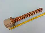 """Блок тэн медный 4,5 кВт / 1.5 """" дюйма резьба / 220 В. / 290 мм. длина производство Италия THERMOWATT, фото 3"""
