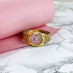 Rolex Date  (Gold-Pink Pearl)