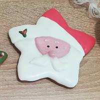 Медовый пряник Звездочка Дед Мороз, фото 1