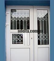 Решетки раздвижные на окна Шир.1800*Выс2200мм для аптек, фото 1