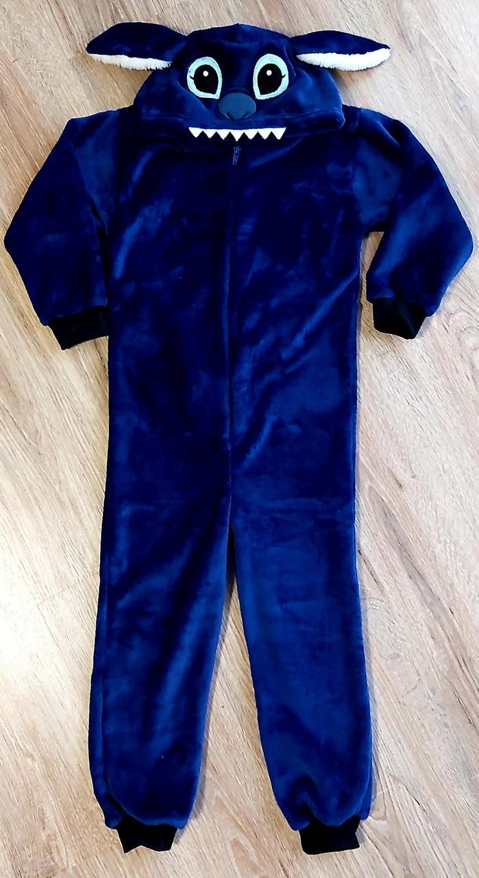 Детская тёплая пижама кигуруми из рваной махры СТИЧ