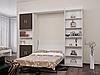 Шкаф-кровать с пеналом и полками