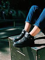 Кроссовки черные Nike Air Force High Black/Найк Аір Форс Високі, фото 1