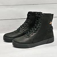 Мужские ботинки с мехом в стиле Puma, фото 1