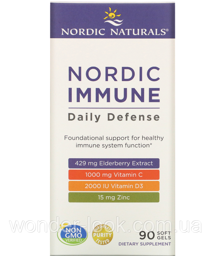 Nordic Naturals, Nordic Immune Daily Defense, 90 Soft Gels