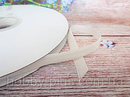 Лента бархатная, 1 см, цвет белый