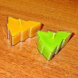 Новогодний набор восковых чайных свечей Ёлочка (4шт.), фото 2