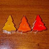 Новогодний набор восковых чайных свечей Ёлочка (4шт.), фото 3