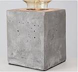 Настольная лампа ночник «Тесла» серый бетон h10см, фото 4