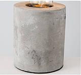 Настольная лампа ночник «Тесла» серый бетон h10см, фото 6