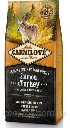 Корм Carnilove для собак крупных пород | Carnilove Adult Large Breed Salmon & Turkey 12 кг, фото 2