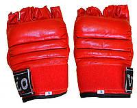 Рукавиці снарядні(шингарти) обрізані пальці шкіра VELO ULI-4012-R червоні