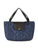 Стеганая сумка Роуз синяя