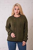 Женский свитер черный с хаки. Размер универсальный (до 50 размера) ОПТ - РОЗНИЦА, фото 1