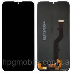 Дисплей для ZTE Blade V10 Vita, модуль в сборе (экран и сенсор), черный, оригинал