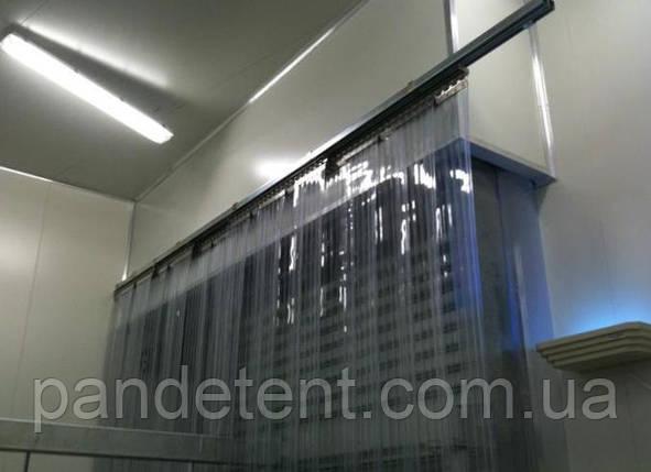 Ленточная Ребристая теплоизолирующая ПВХ завеса. Силиконовая штора полосовая 2х300 мм, фото 2