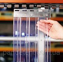 Ленточная Ребристая 3х300 мм теплоизолирующая ПВХ завеса. Силиконовая штора полосовая