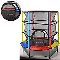 Батут спортивный с защитной сеткой для детей OSPORT диаметр 140 см (MS 3229)