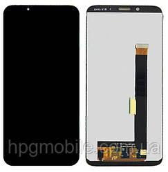 Дисплей для ZTE Nubia V18, модуль в сборе (экран и сенсор), черный, оригинал