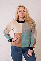 Женский свитер геометрия. Размер универсальный (до 50 размера) ОПТ - РОЗНИЦА, фото 1