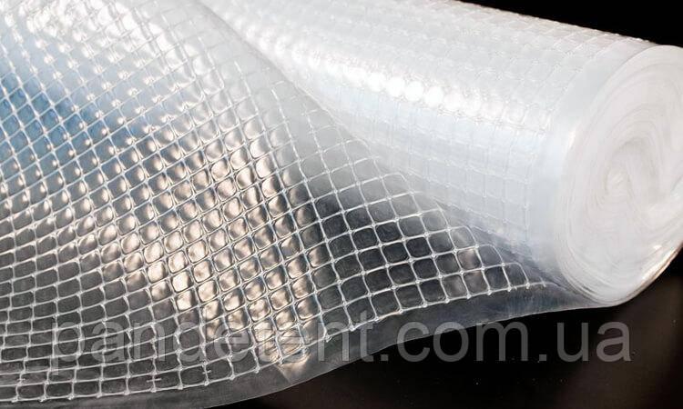 Прозрачная ПВХ пленка армированная для теплицы- 625 грамм/м2 (2,5 х 30м.)