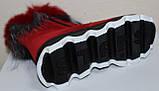 Ботинки женские замшевые зимние с натуральным мехом на толстой подошве от производителя модель УН518, фото 6