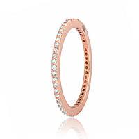 Серебряное кольцо Silvex 925 позолоченное с фианитом 15,5