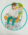 Детский музыкальный шезлонг-качалка 2 в 1 Bambi 7188 Зебра для детей весом до 18 кг, с вибрацией, фото 5