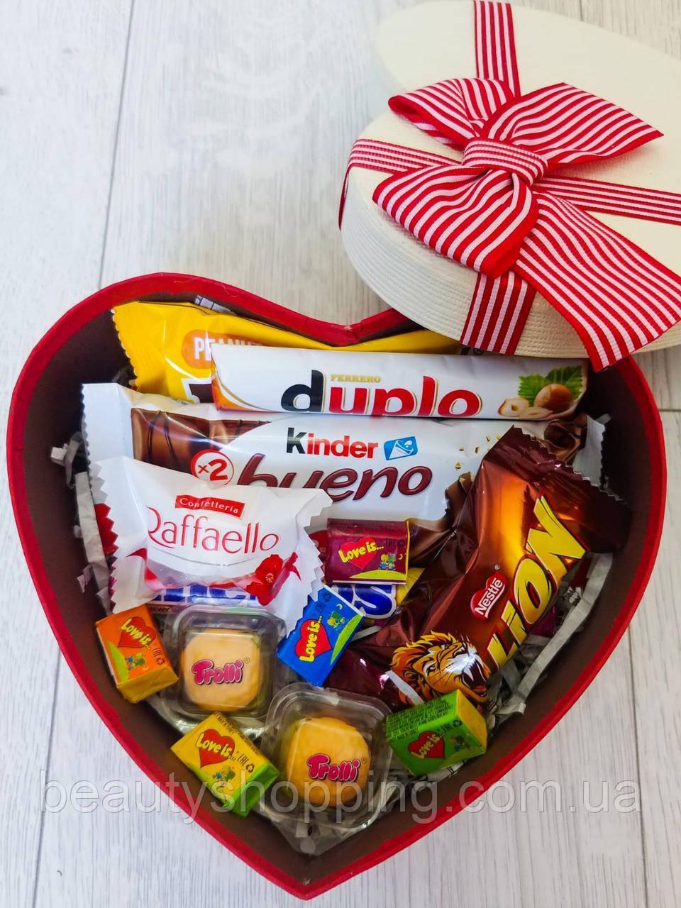 """Подарочный набор сладостей в коробке """"Sweet Heart"""""""