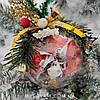 Новорічний Куля з Цукерками, Новорічний солодкий подарунок, Ялинкова куля, фото 6