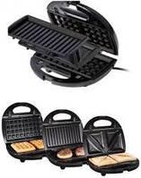 Бутербродниця, вафельниця, гриль 3в1 SilverCrest SSMW 750 B2, фото 1