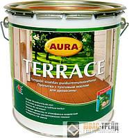 ТМ AURA TERRACE -  пропитка с тунговым маслом для древесины (ТМ Аура Терассэ),9 л.
