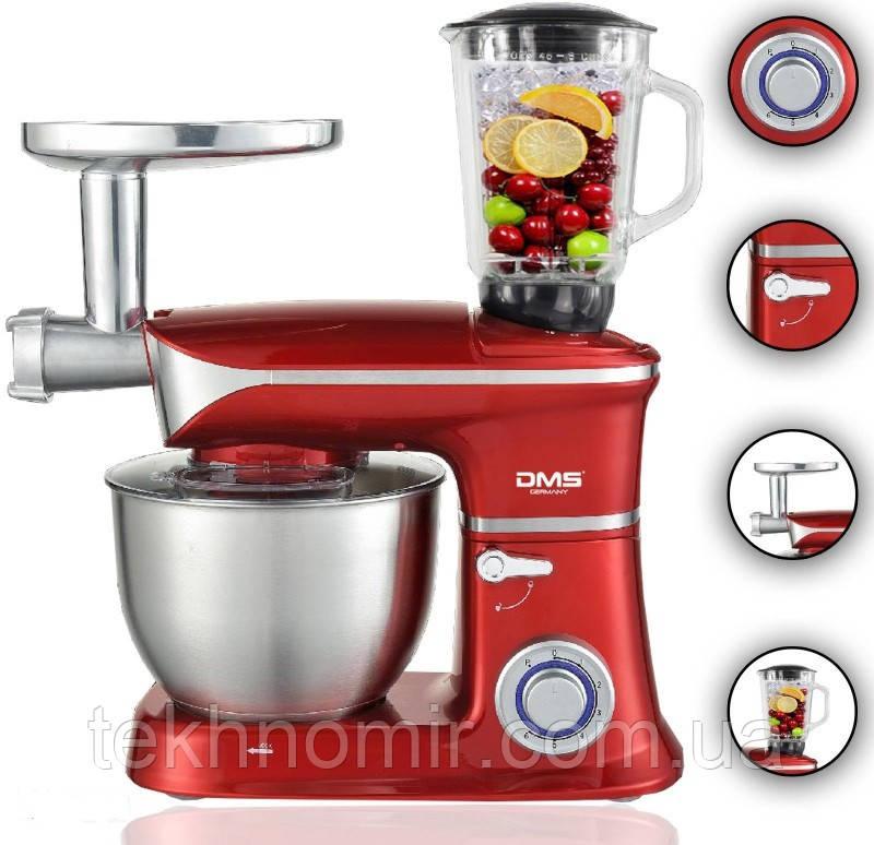 Кухонний комбайн 3в1 6.5 л чаша DMS Germany KMFB-1900R (червоний) 1900 Вт